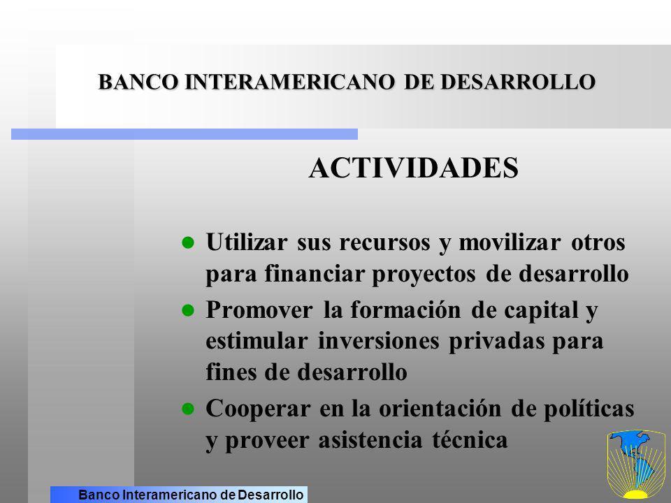 Banco Interamericano de Desarrollo BANCO INTERAMERICANO DE DESARROLLO FORMAS DE FINANCIAMIENTO A TRAVES DE LA CORPORACION INTERAMERICANA DE INVERSIONES (CII) Y DEL FONDO MULTILATERAL DE INVERSIONES (FOMIN) Complementan las acciones del BID con el sector privado: La CII ofrece préstamos directos mediante intermediarios financieros para pequeños y medianos proyectos privados de inversión en todos los sectores de la economía, hasta un máximo de US$10 millones por proyecto.