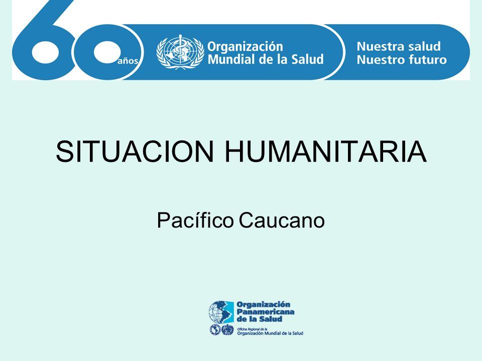 CONTEXTO HUMANITARIO Tendencia en el I semestre de 2008 a agravarse situación humanitaria ante los siguientes hechos que afectan la población civil: 1.