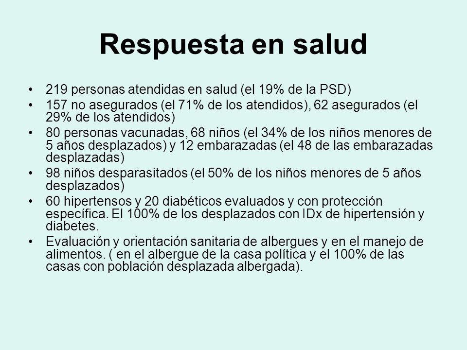Principales Diagnósticos Cefalea no específicada Asma Vaginitis Hipertensión arterial Dolores musculares Faringitis Poliparasitismo Gastritis Lumbago Dermatomicosis Infección de vias urinarias
