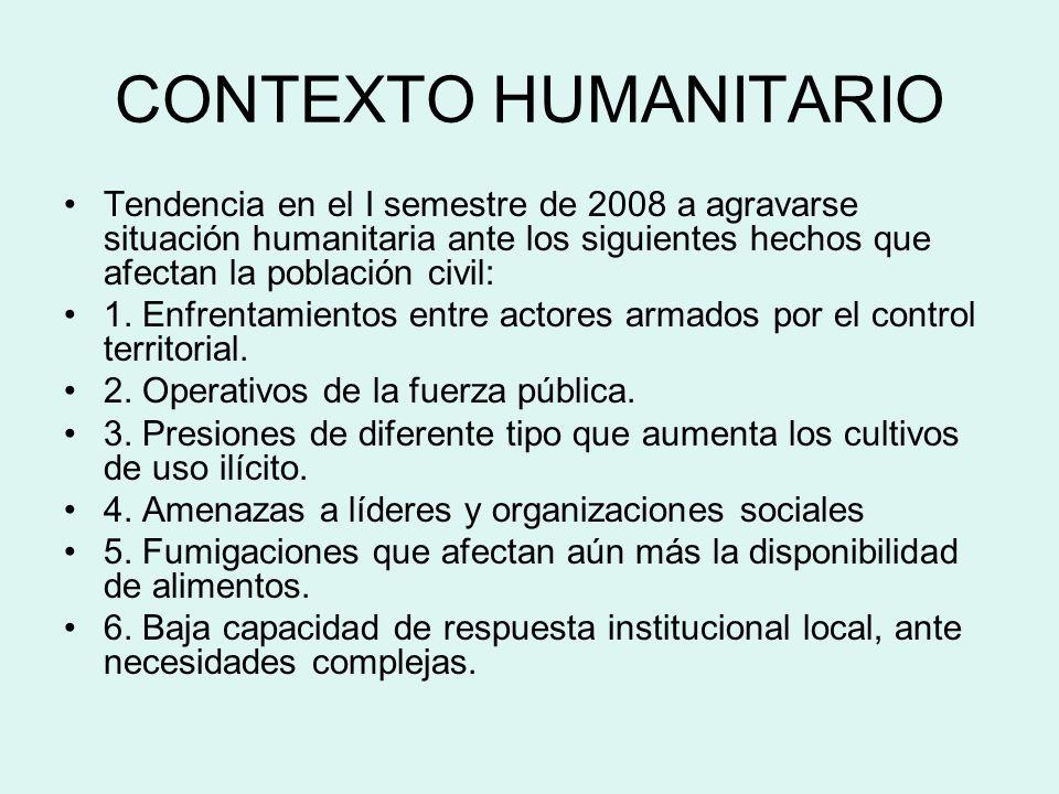 EVENTOS SIGNIFICATIVOS EN EL MARCO DE LO HUMANITARIO 17 de Agosto 2008.