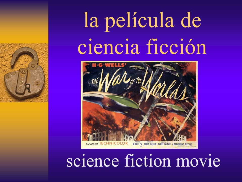 la película de ciencia ficción science fiction movie