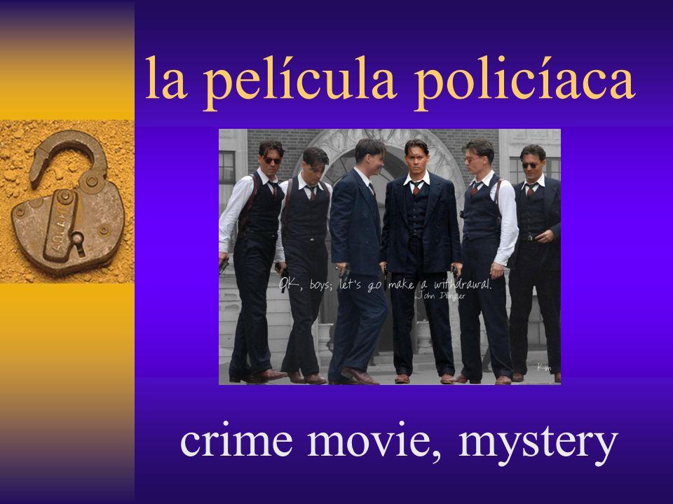 la película policíaca crime movie, mystery