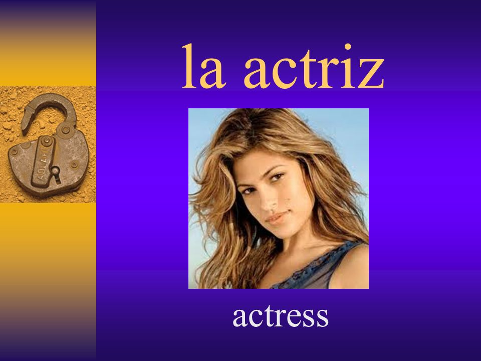 la actriz actress