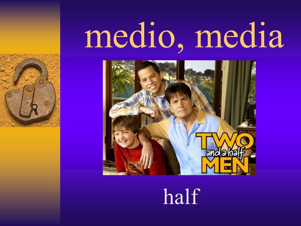 medio, media half