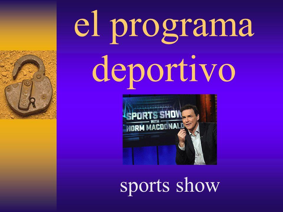 el programa de entrevistas interview program (talk show)