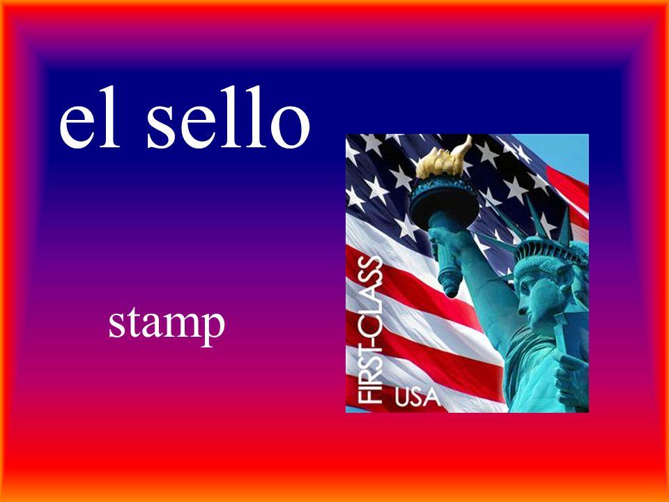 el sello stamp
