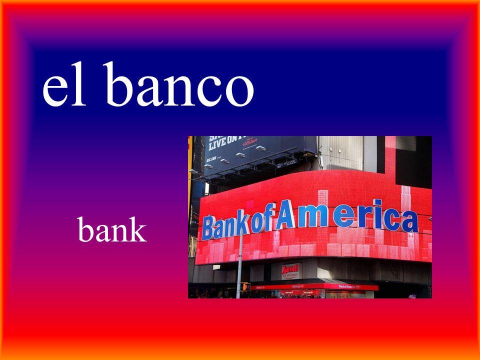 el banco bank