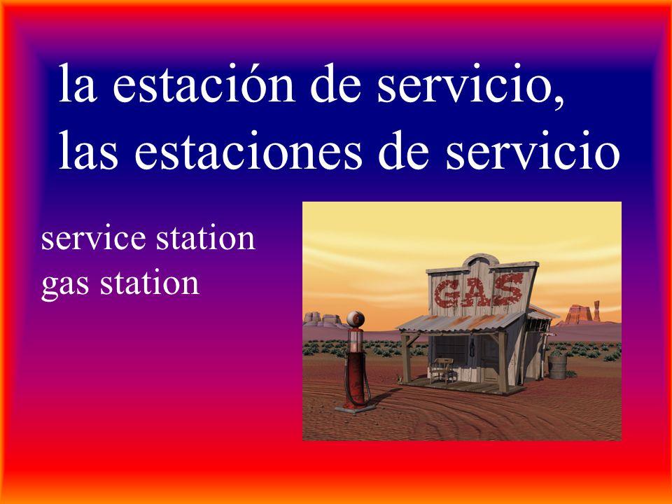 la estación de servicio, las estaciones de servicio service station gas station