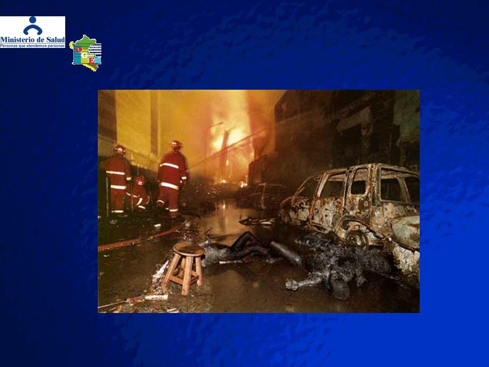 ANTECEDENTES DE INCENDIOS EN LA CIUDAD DE LIMA El 08 de enero de 1990; incendio en un edificio comercial de ocho pisos y destruye cincuenta puestos de vendedores ambulantes en los alrededores del Mercado Central.