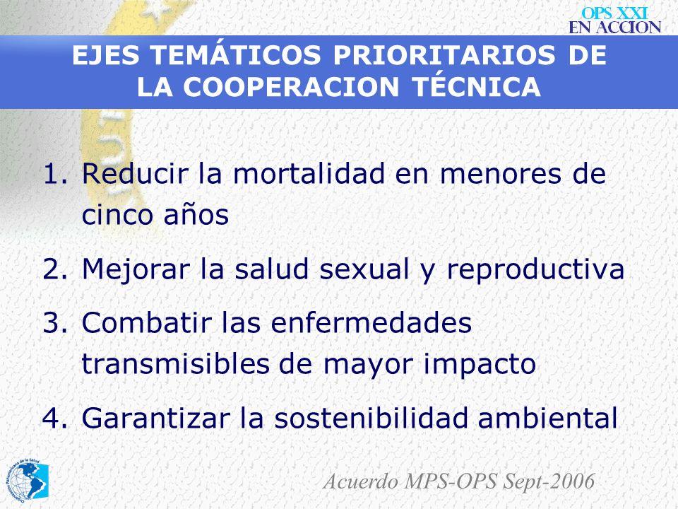 2005 Organización Panamericana de la Salud Cooperación Técnica a Colombia En forma concertada con las Autoridades Nacionales y en el marco de las Meta