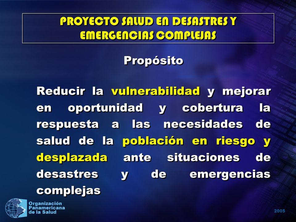 2005 Organización Panamericana de la Salud