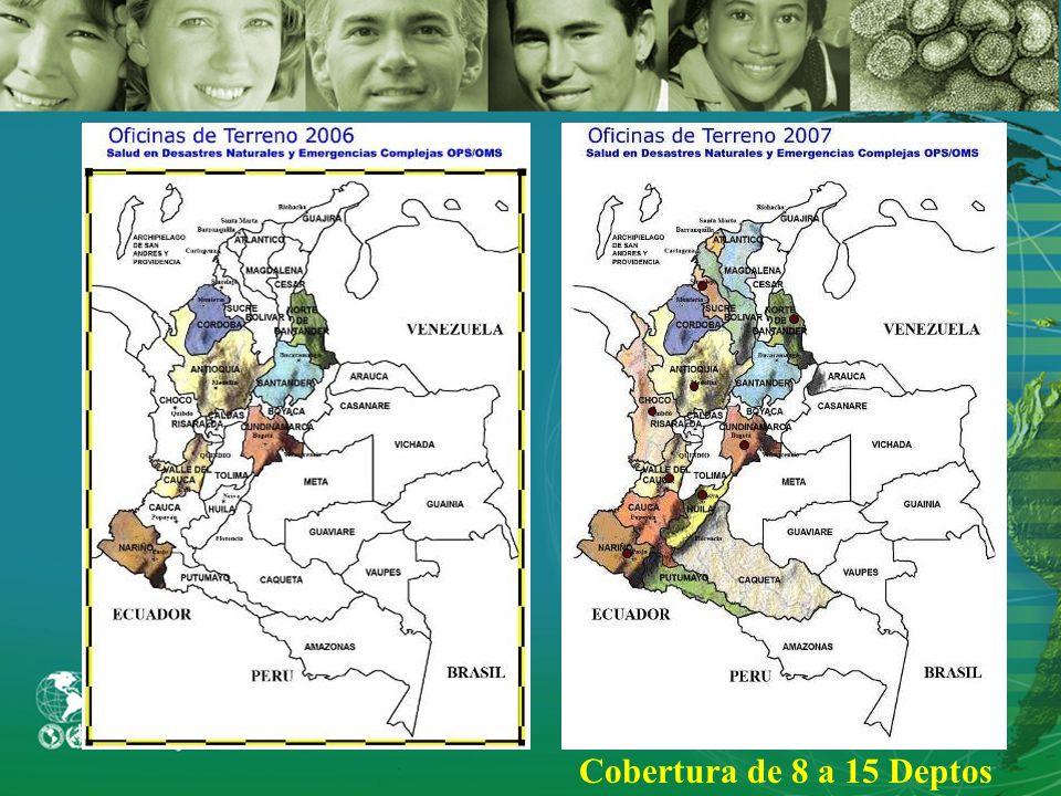 2005 Organización Panamericana de la Salud PROYECTO SALUD EN DESASTRES Y EMERGENCIAS COMPLEJAS Propósito Reducir la vulnerabilidad y mejorar en oportu