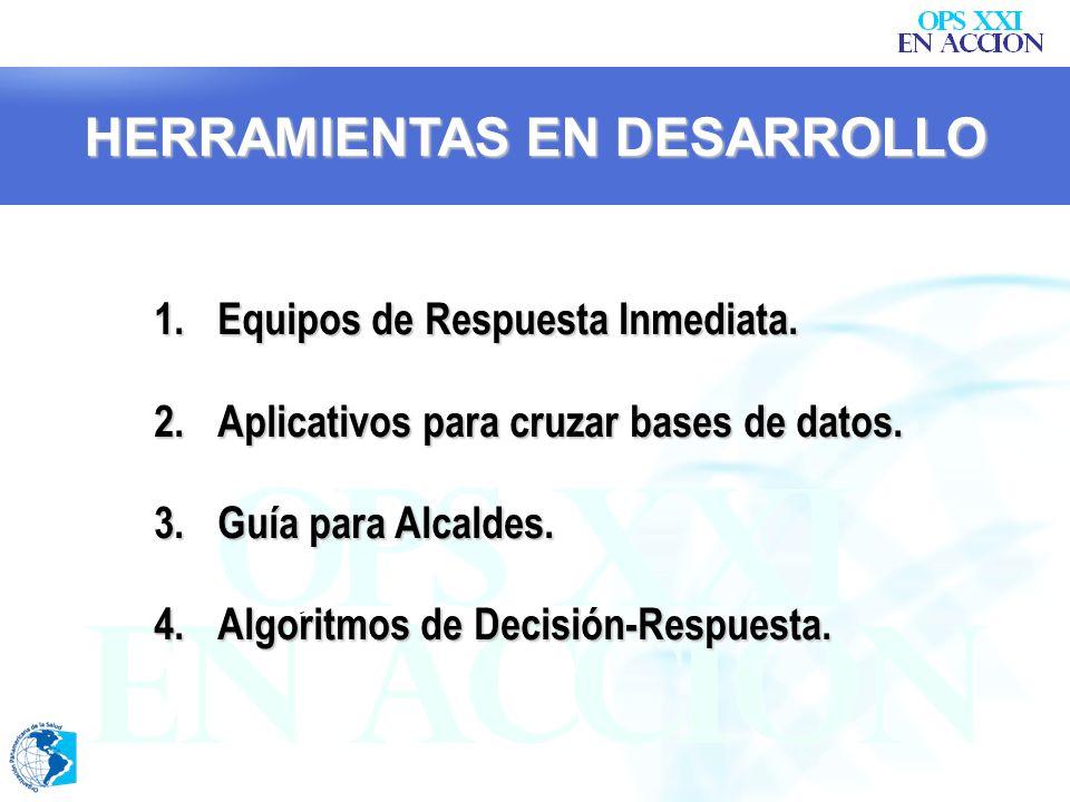 HERRAMIENTAS CORRIENTES 1.MESAS DE COORDINACIÓN DE SALUD 2.DESPLAZAMIENTOS MASIVOS 3.SIGA 4.RUTA DE ATENCIÓN EN SALUD