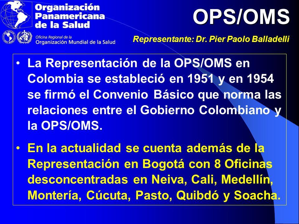 OPS/OMS Representante: Dr.