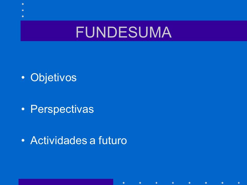 FUNDESUMA Objetivos Perspectivas Actividades a futuro