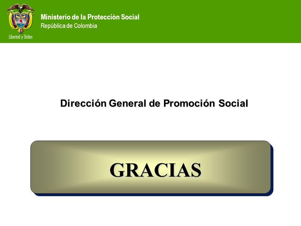 Ministerio de la Protección Social República de Colombia Dirección General de Promoción Social GRACIAS GRACIAS