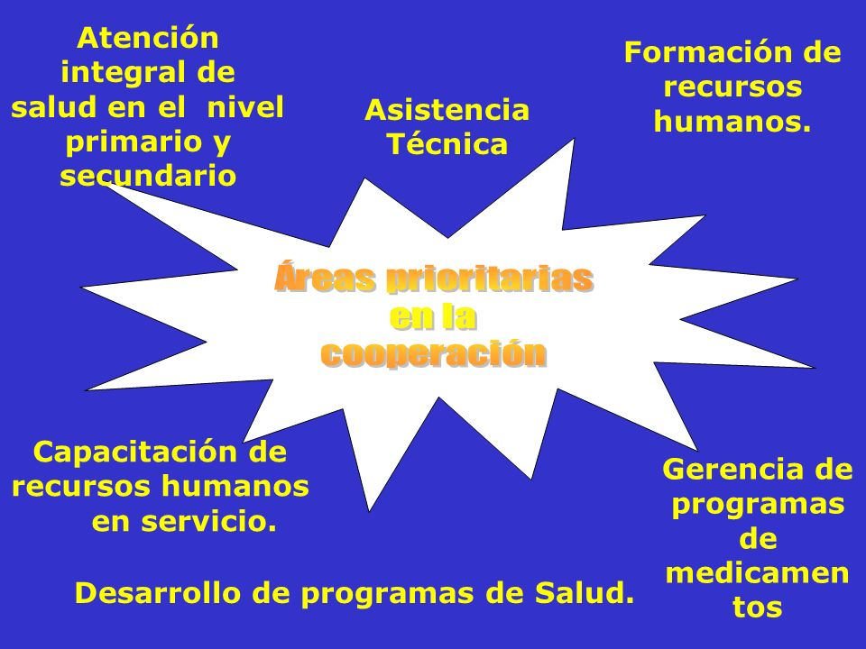 Atención integral de salud en el nivel primario y secundario Formación de recursos humanos.