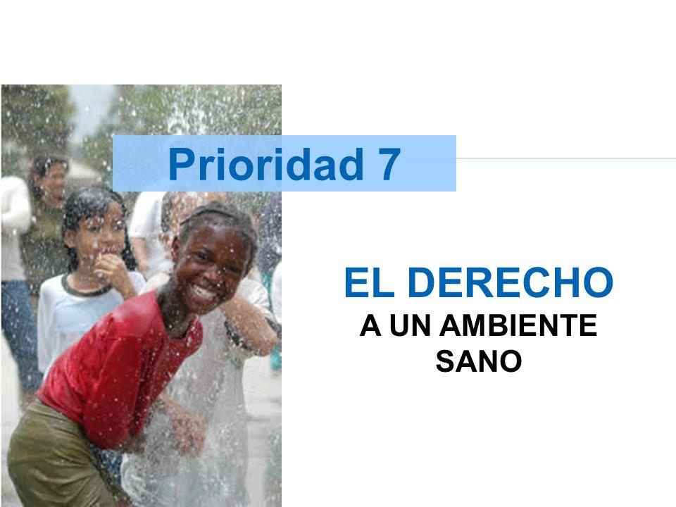 Prioridad 7 EL DERECHO A UN AMBIENTE SANO