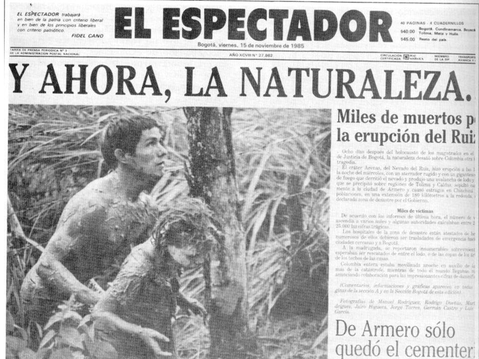 Deslizamientos, Avalanchas. LOS DESASTRES EN COLOMBIA EVENTOS MAS IMPORTANTES