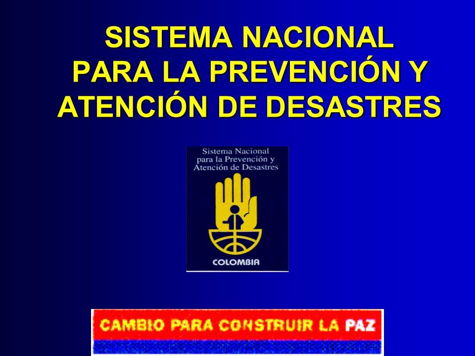 DIRECCIÓN GENERAL PARA LA PREVENCIÓN Y ATENCIÓN DE DESASTRES MINISTERIO DEL INTERIOR