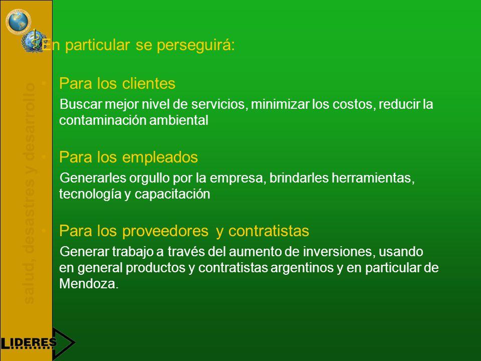salud, desastres y desarrollo PARTE I OBJETIVOS BÁSICOS DE LA OPERACIÓN DEL SERVICIO - El propósito principal de la operación del servicio es posibili