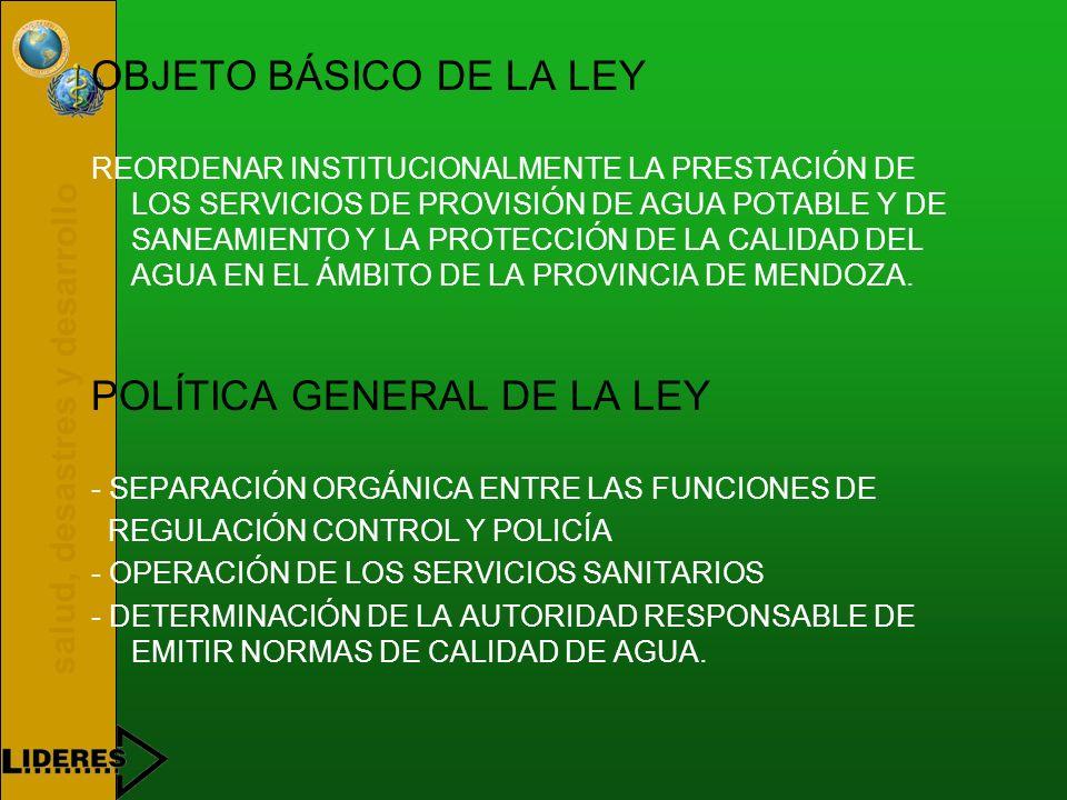 salud, desastres y desarrollo LEY N° 6.044/93 OBJETO Y POLÍTICA GENERAL