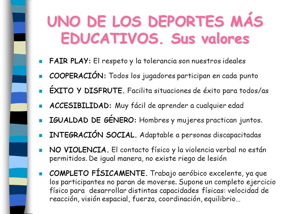 UNO DE LOS DEPORTES MÁS EDUCATIVOS.