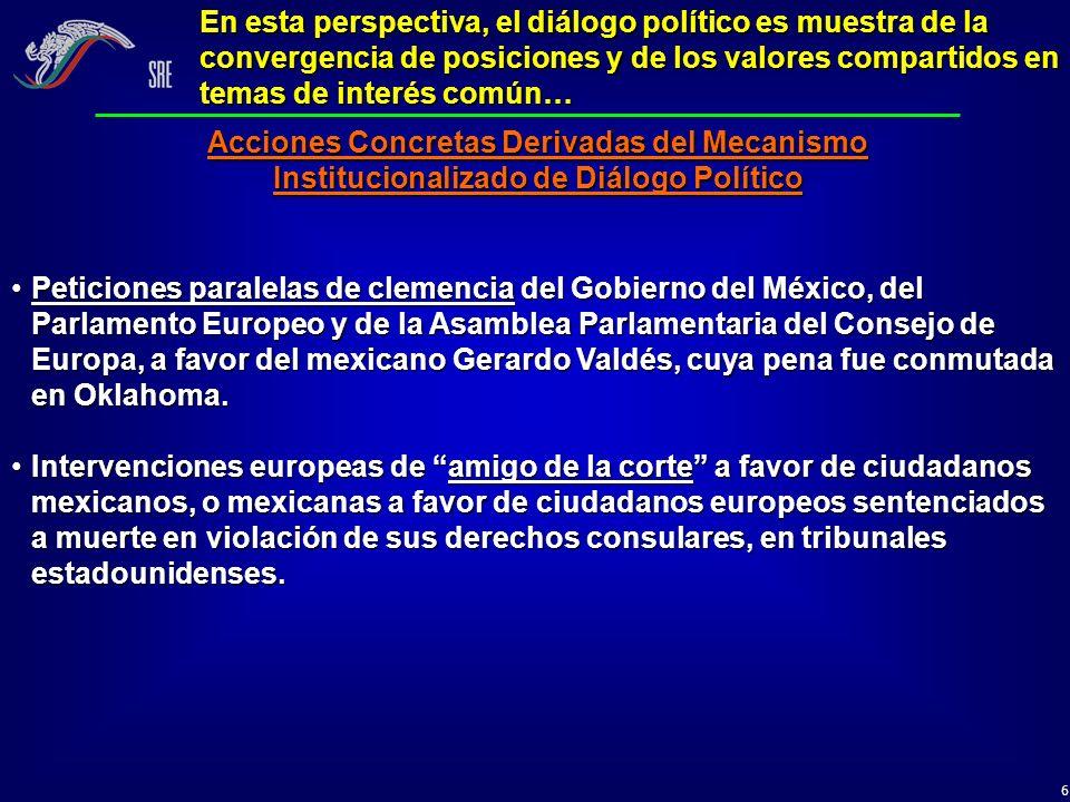 17 Fortalecimiento de la relación de socios de cooperación a través de la coparticipación y el cofinanciamiento… Formular conjuntamente la plataforma para la programación de cooperación México–UE 2007-2013.Formular conjuntamente la plataforma para la programación de cooperación México–UE 2007-2013.