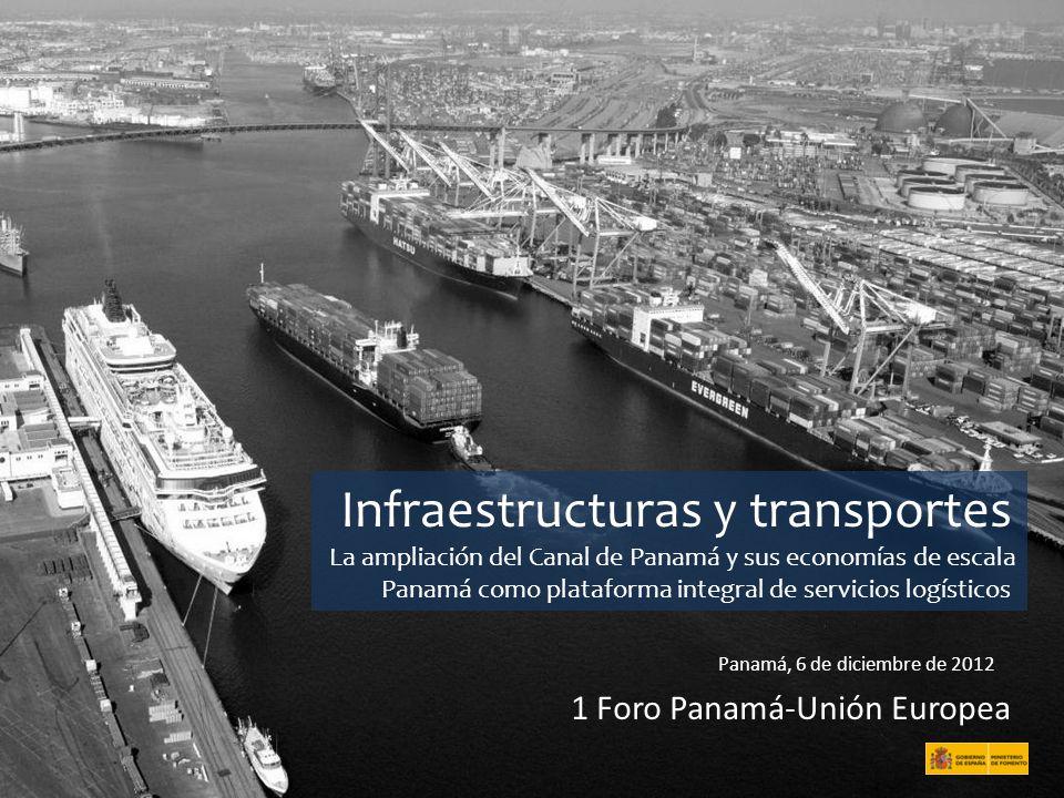 Infraestructuras y transportes La ampliación del Canal de Panamá y sus economías de escala Panamá como plataforma integral de servicios logísticos Pan