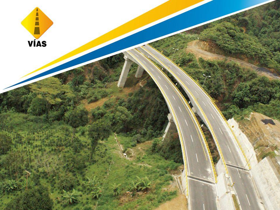CARRETERAS Numero de Concesiones Viales Actuales 25 Kilómetros concesionados (total)4.800 km Kilómetros Construidos (doble calzada)*875 km Kilómetros en Operación (doble calzada)* 670 km Proyectos Carreteros Vigentes en Concesión