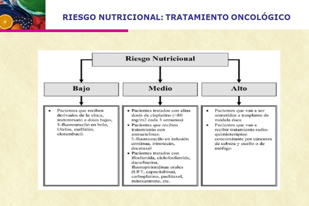 RIESGO NUTRICIONAL: TRATAMIENTO ONCOLÓGICO