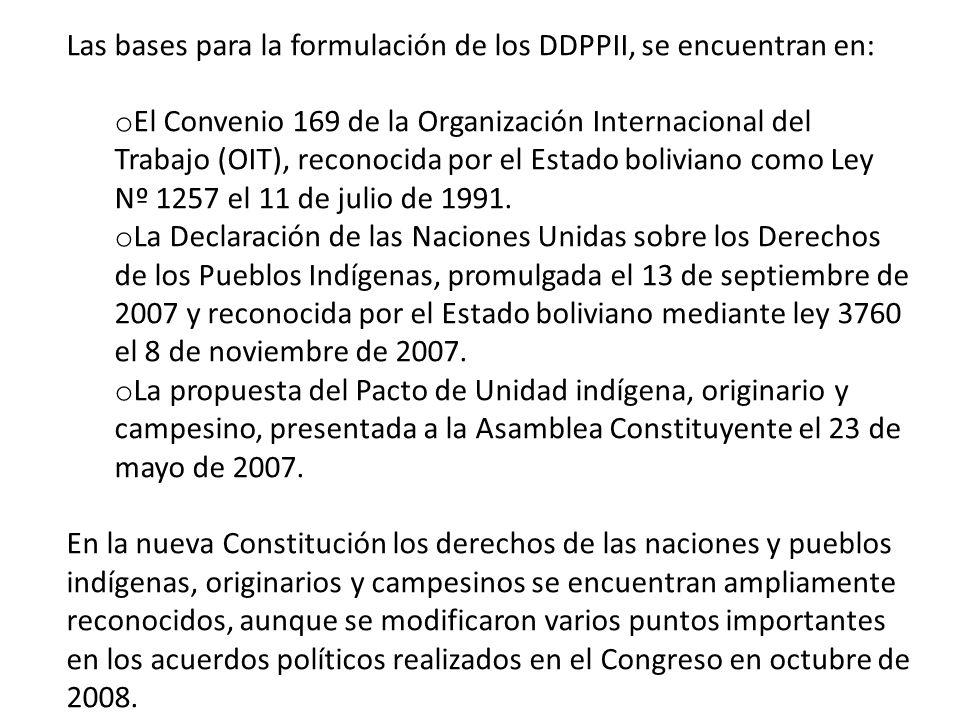 En la Constitución anterior aprobada en 1967 y reformada en 1994, el artículo más importante sobre los DDPPII, era el 171 o Se reconocen, se respetan