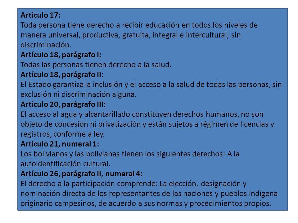 En los derechos fundamentales es importante rescatar aquellos que se refieren a la no discriminación; a la auto identificación cultural; a la educació