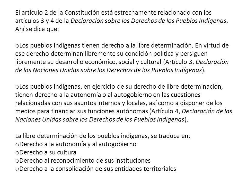 El otro pilar fundamental de los derechos de los pueblos indígenas es el reconocimiento de la preexistencia de los pueblos indígenas al Estado colonia