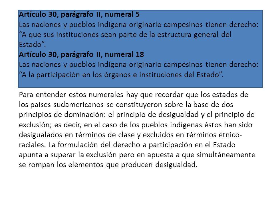 Artículo 30, parágrafo II, numeral 10 Las naciones y pueblos indígena originario campesinos tienen derecho: A vivir en un medio ambiente sano, con man