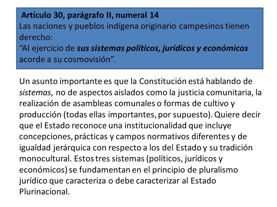 Artículo 30, parágrafo II, numeral13 Las naciones y pueblos indígena originario campesinos tienen derecho: Al sistema de salud universal y gratuito qu