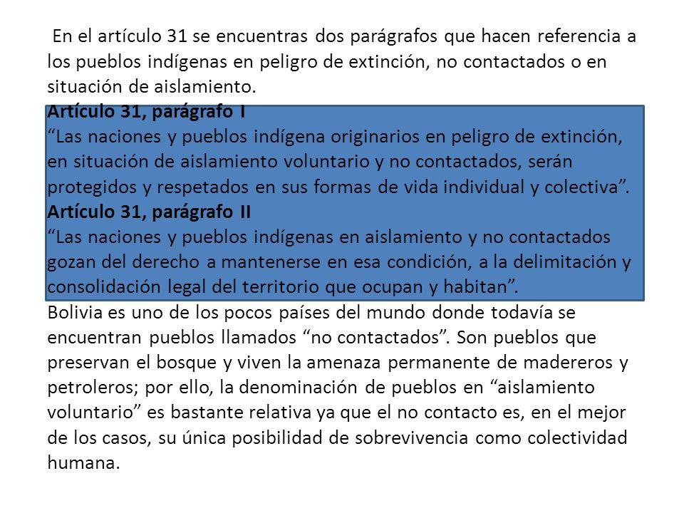 Artículo 30, parágrafo II, numeral 14 Las naciones y pueblos indígena originario campesinos tienen derecho: Al ejercicio de sus sistemas políticos, ju