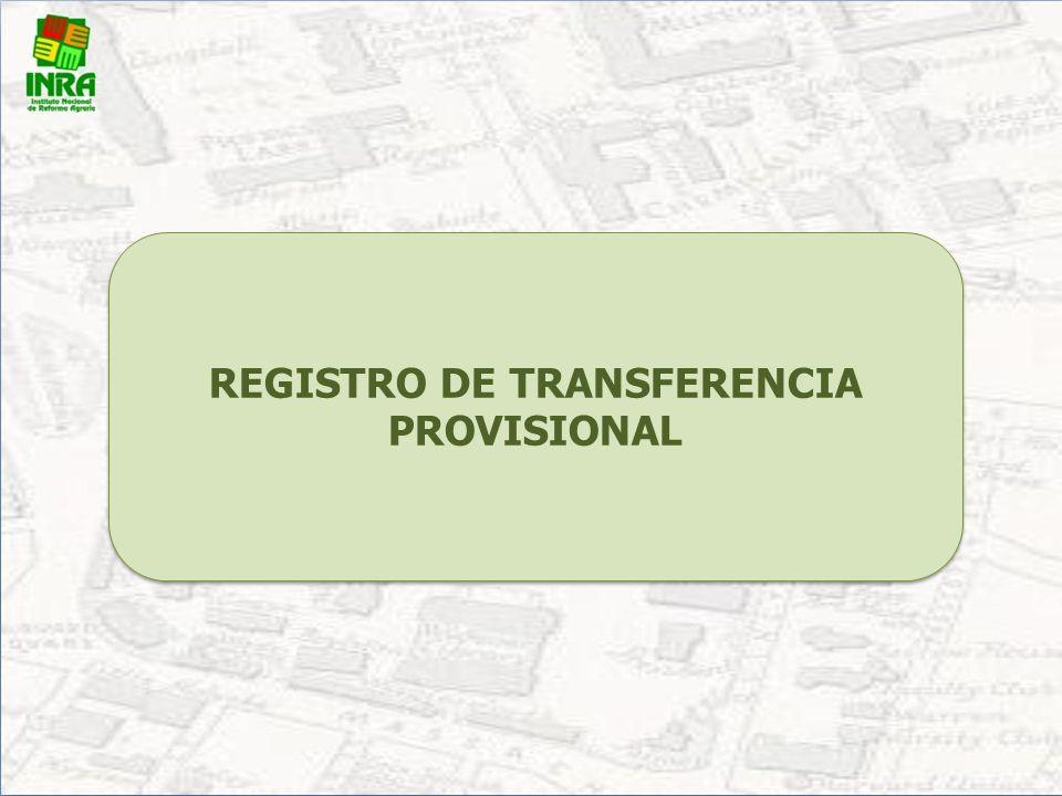 Registro de Transferencias (Cambio de Nombre, División, Fusión) Gratuito Certificado de Registro de Transferencia El registro de transferencia se cons