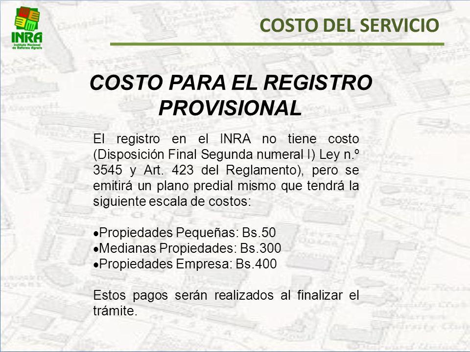 PRODUCTO FINAL DEL REGISTRO PROVISIONAL