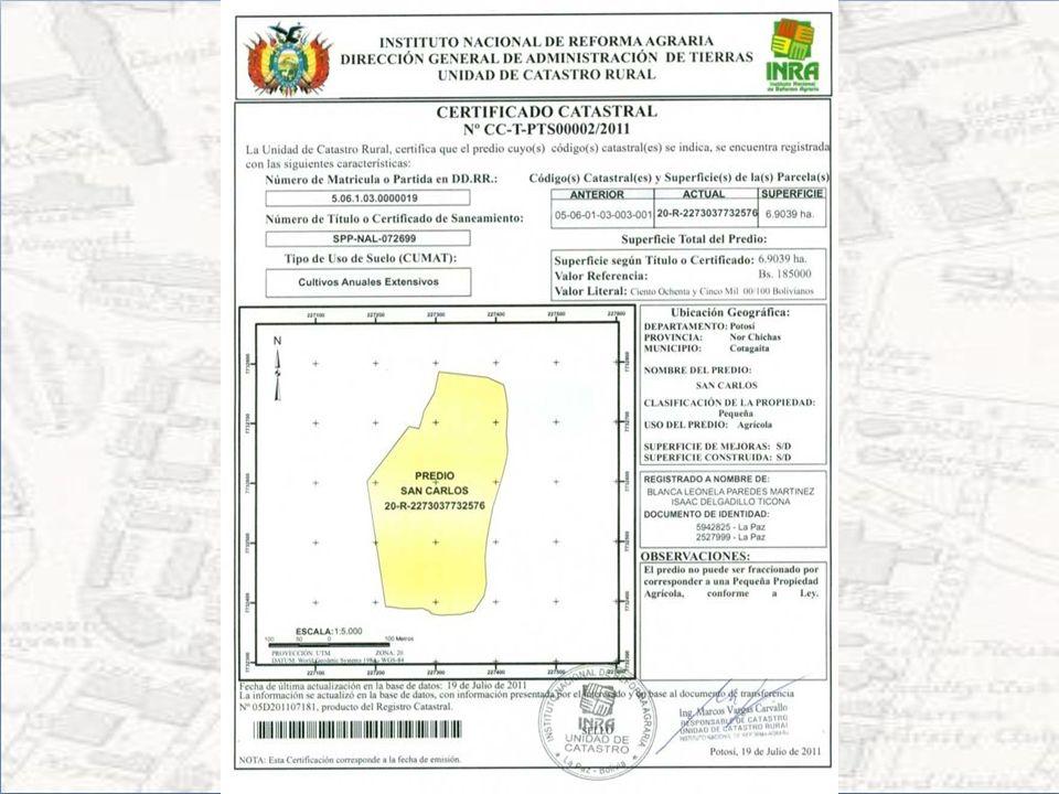 INFORME DE CERTIFICADO DE PROPIEDAD NO RURAL