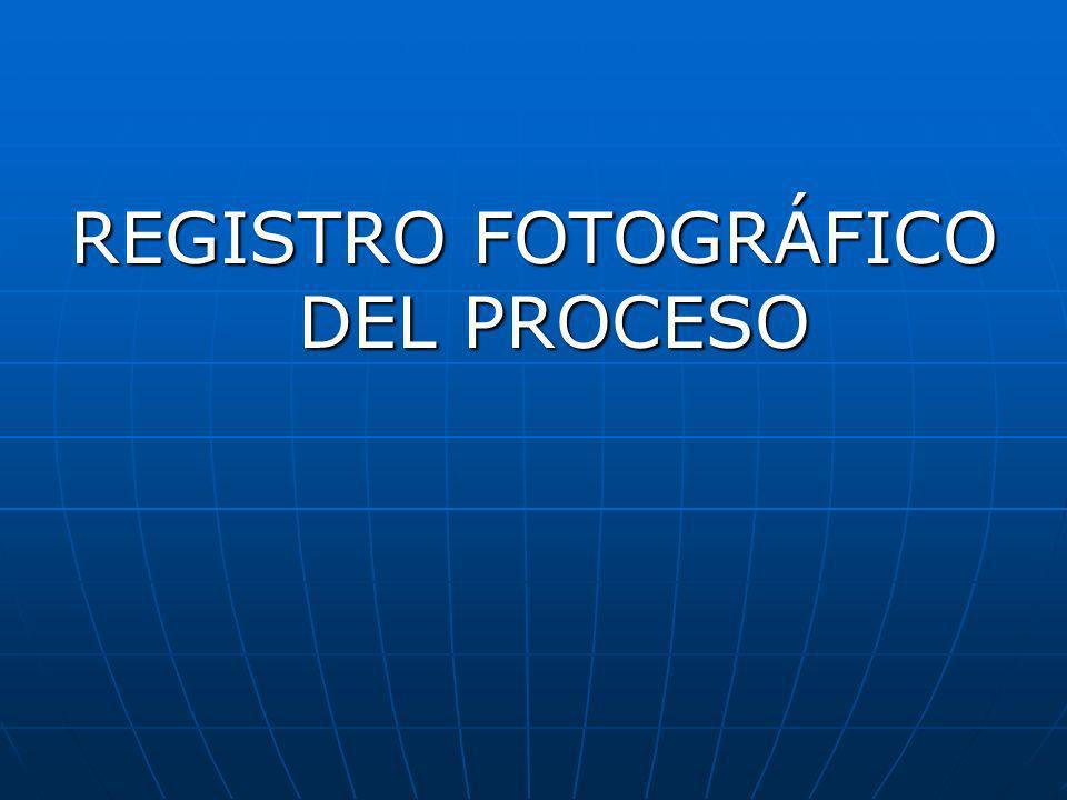 REGISTRO FOTOGRÁFICO DEL PROCESO