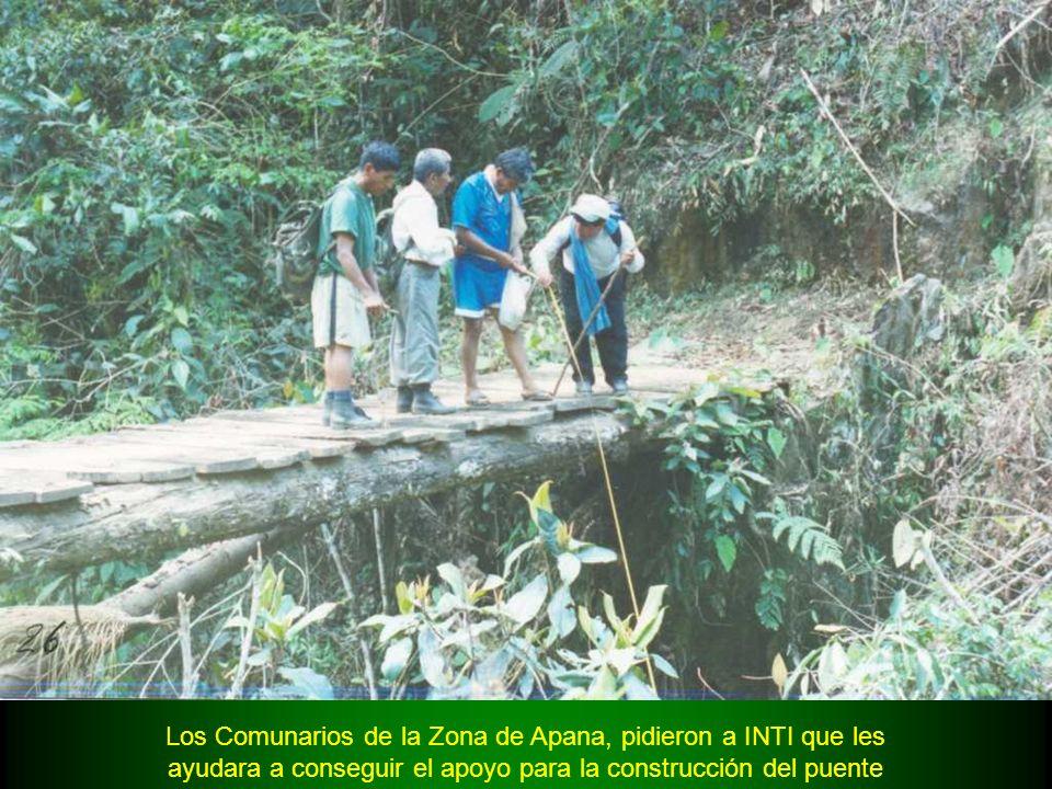 El Puente en la zona de Apana