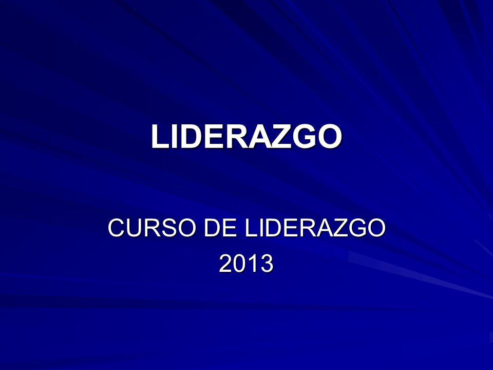 LIDERAZGO CURSO DE LIDERAZGO 2013