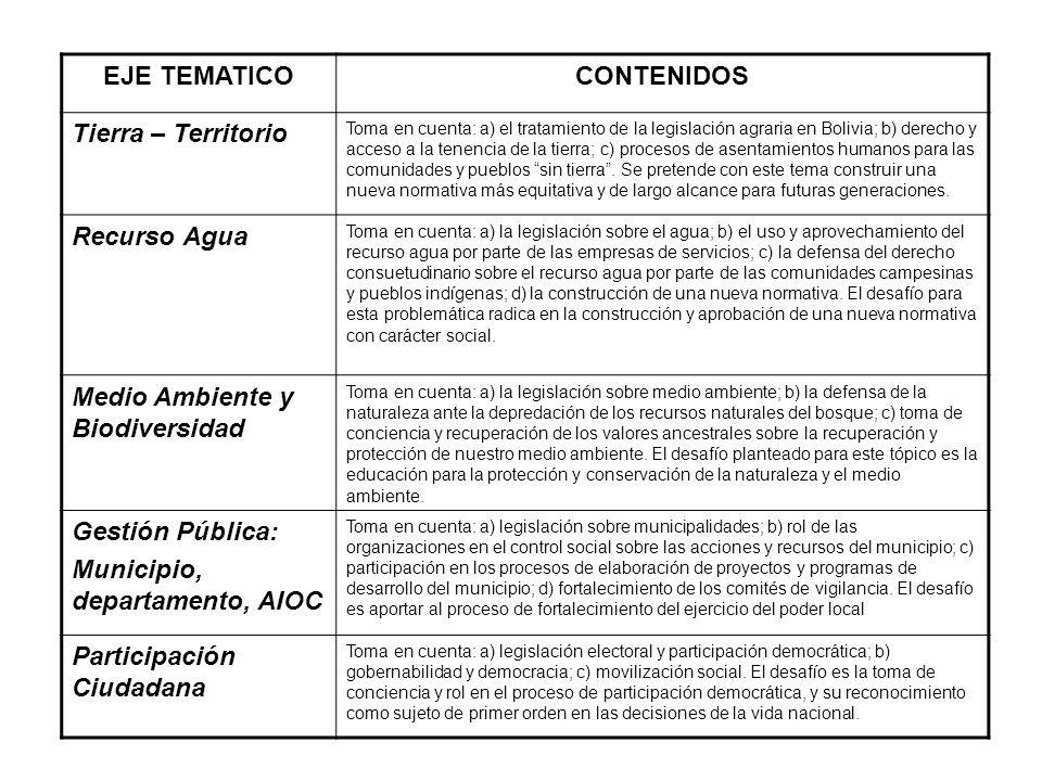 Estrategias: Formación: talleres, foros regionales, encuentros nacionales. Fortalecimiento organizativo: apoyo técnico, elaboración conjunta de normat