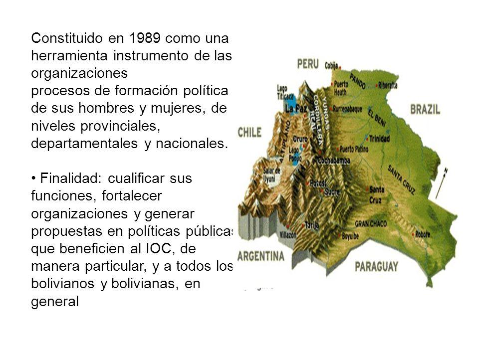 PROGRAMA NINA Formación y aprendizaje colectivo de dirigentes, autoridades y líderes indígena originario campesinos de Bolivia NUESTRO PLAN ES LA VIDA