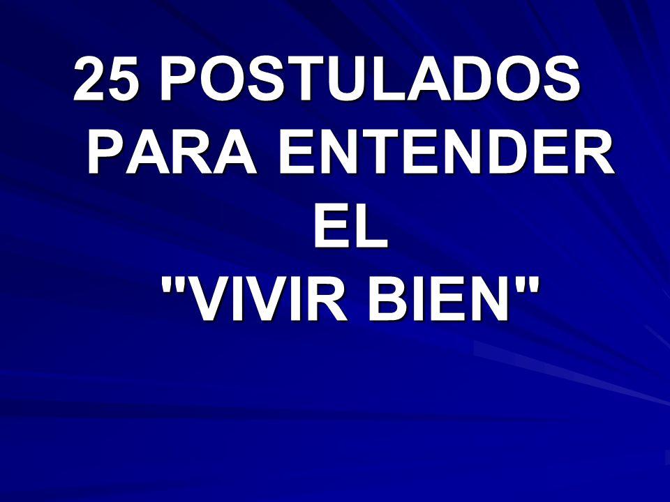 25 POSTULADOS PARA ENTENDER EL