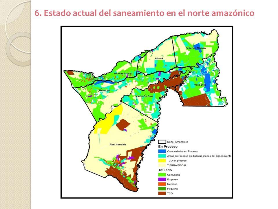 6. Estado actual del saneamiento en el norte amazónico