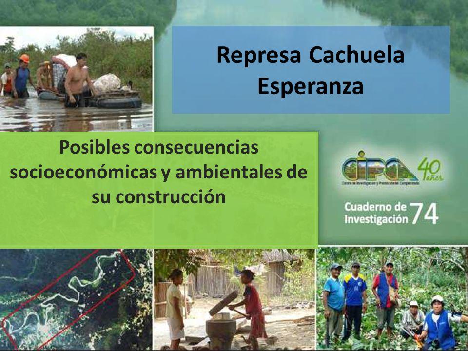 Represa Cachuela Esperanza Posibles consecuencias socioeconómicas y ambientales de su construcción