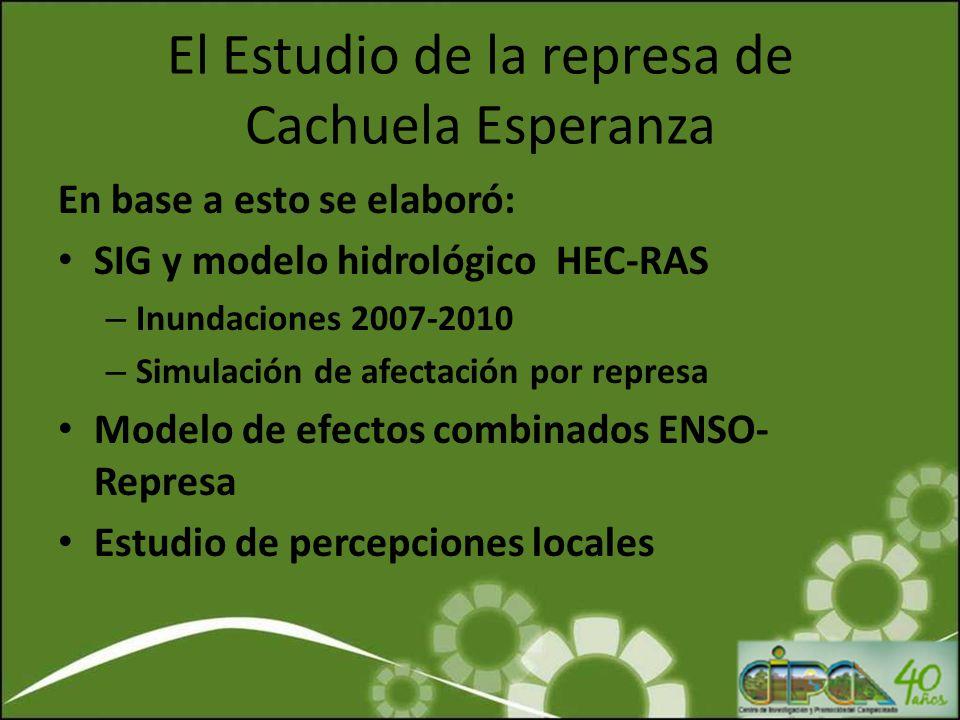 El Estudio de la represa de Cachuela Esperanza En base a esto se elaboró: SIG y modelo hidrológico HEC-RAS – Inundaciones 2007-2010 – Simulación de af