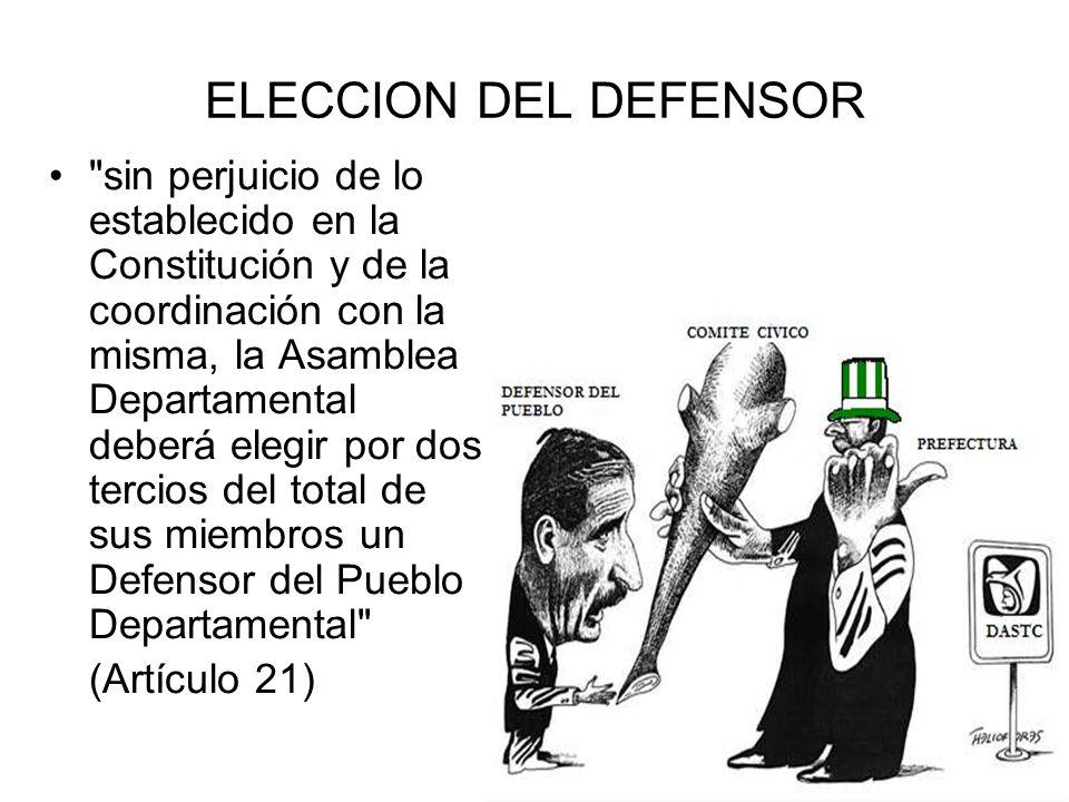 ELECCION DEL DEFENSOR